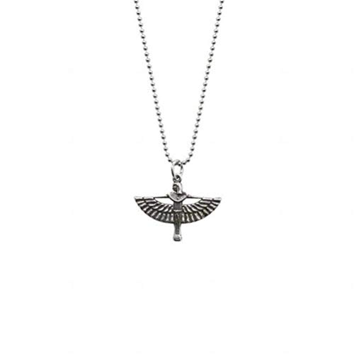 Sterling Silver Earrings Choker Necklace S925 Sterling Retro Guardian Wings Angel Pendant Necklace Nordic Wind Girl Wild Fashion Clavicle Chain, LOt, Pendant, 925 (Best Wild Wind Friend Heart Necklace Golds)