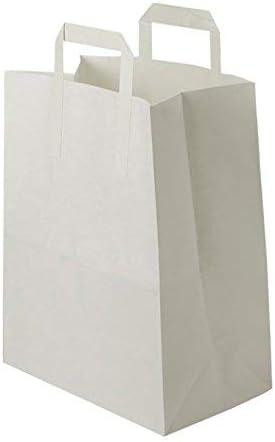 soufflet 17- sac cabas /à anse plate solide hauteur 47 cm r/ésistant papier 100g non imprim/é ref SKB33PP1F 25 25 Grands Sacs Papier kraft blanc avec poign/ée 36 litres largeur 45 cm