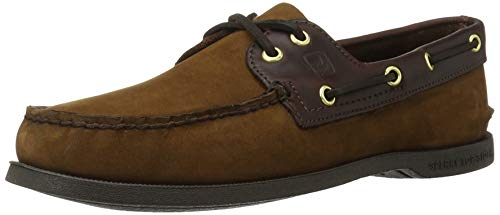 Sperry Top-Sider Men's Authentic Original 2 Eye Boat Shoe,Brown/Buc Brown,12 M Brown Suede Leather Loafer