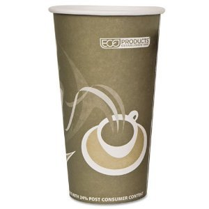 Eco-Products EVOLUTION WORLD 24% PCF HOT DRINK CUPS, 20 OZ., GRAY