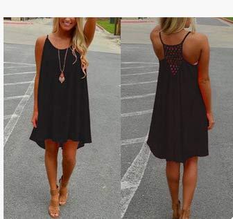 Mesh Backless Black Stitching Dress Large Women's Chiffon Skirt Mensdxa Abito Size xvwaqYn86T