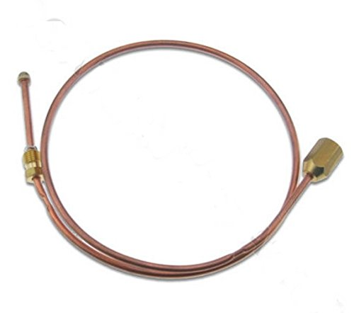 TCE600 GAS THERMOCOUPLE EXTENSION ADAPTOR FEMALE M9 NUT 600mm 60cm EXTENDER ()