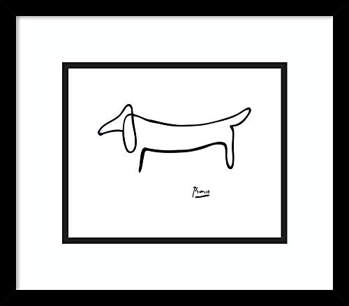 (Framed Wall Art Print | Home Wall Decor Art Prints | Le Chien (The Dog) by Pablo Picasso | Modern Decor)