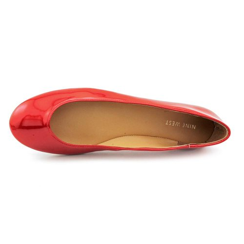 Nine West Womens Ourlove Ballet Flat, Red, Size 8.5