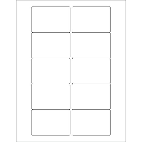 BOX USA BLL165 Tape Logic Rectangular Laser Labels, 3'' x 2'', 3'' Width, 2'' Height, White (Pack of 1000) by BOX USA