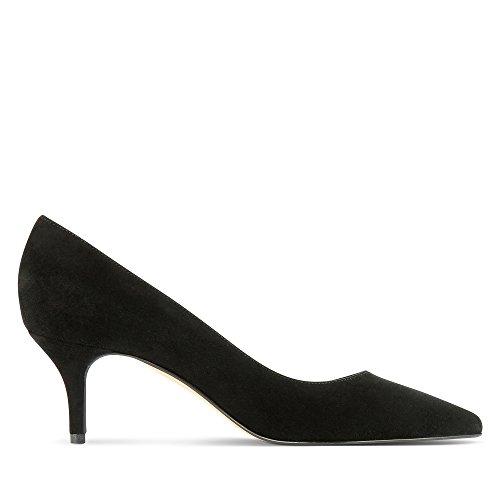 Shoes Cerrada Mujer Punta Tacón Negro Zapatos Con De Para Pump Evita dSq7d