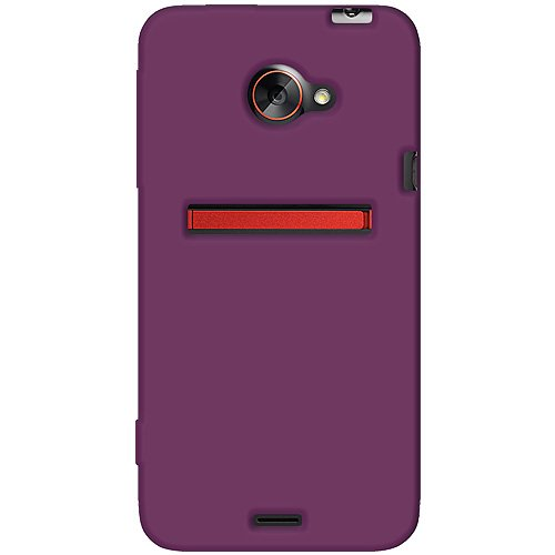 one Jelly Skin Fit Phone Case Cover for HTC EVO 4G LTE and Sprint HTC EVO 4G LTE - 1 Pack - Retail Packaging - Purple ()