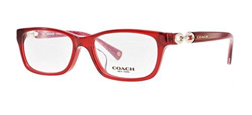 Coach HC6052F Fannie (F) Eyeglasses 5237 Burgundy/Burgundy Pink Sig C 54 16 - Coach Glasses Pink