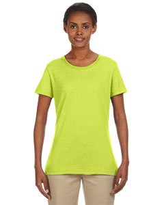 - Jerzees Heavyweight Blend Ladies' Tee (Safety Green) (L)