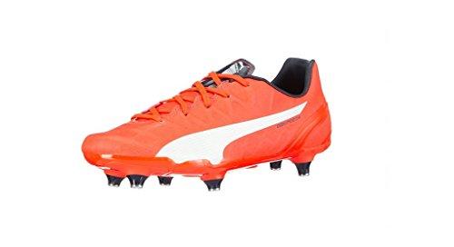 Puma evoSPEED 4.4 SG Jr - zapatillas de fútbol de material sintético Niños^Niñas Lava Blast/White/Total Eclipse