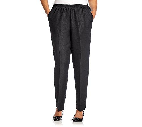 Alfred Dunner Classics Elastic Waist Pants Black 18W S