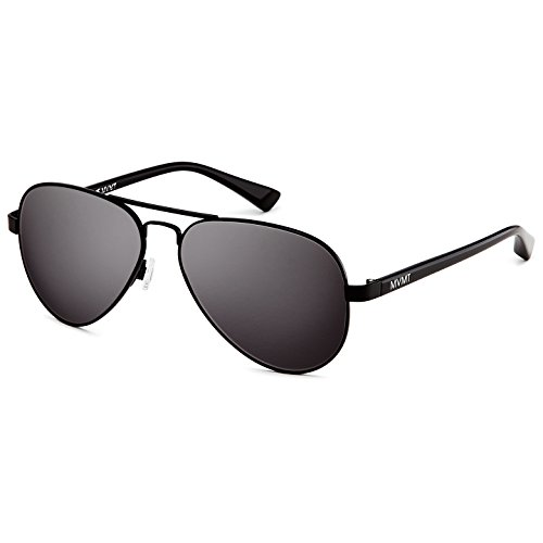 MVMT Runaway | Non-Polarized Aviator Women's & Men's Sunglasses | Matte Black | 60 ()