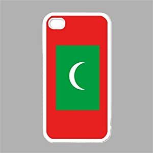 Amazon.com: Flag of Maldives White iPhone 5 Case: Cell Phones