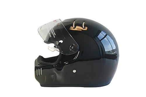 CRG Sports ATV Motocross Motorcycle Scooter Full-Face Fiberglass Helmet DOT Certified ATV-6 Glossy Black Size Large by CRG Sports (Image #3)