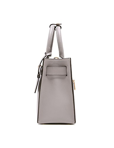 Hobo Shoulder Women bag Designer Leather LA'FESTIN Trendy in Grey Travel and Classic Tote for Genuine More Handbags Accessorize Ladies Mica Luxury Fashion Purses Large qnEUxUd87