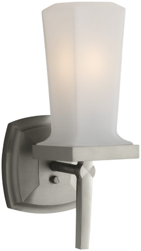 KOHLER K-16268-BN Margaux Single Sconce, Vibrant Brushed Nickel