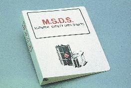 RTK10 - Material Safety Data Sheet Binder - Material Safety Data Sheet Binder, National Marker - Each