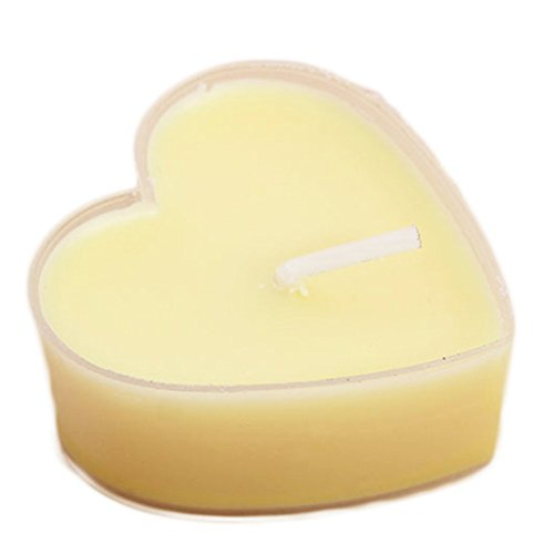 Hosaire Candles 9 Pcs Smokeless Heart Shaped Romantic Love Candle Bulk for Wedding,Birthday,Party,Halloween,Christmas,Festival Yellow