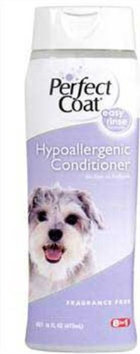 Perfect Coat Hypoallergenic Conditioner, Fragrance Free, 16-Ounce - Gentle Care Hypoallergenic Shampoo