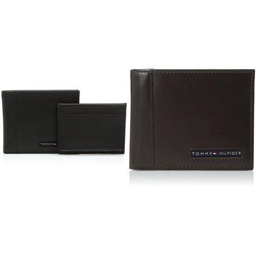 7796efb931ed Tommy Hilfiger Men's Leather Wallet - Sleek and Thin Multipurpose ...