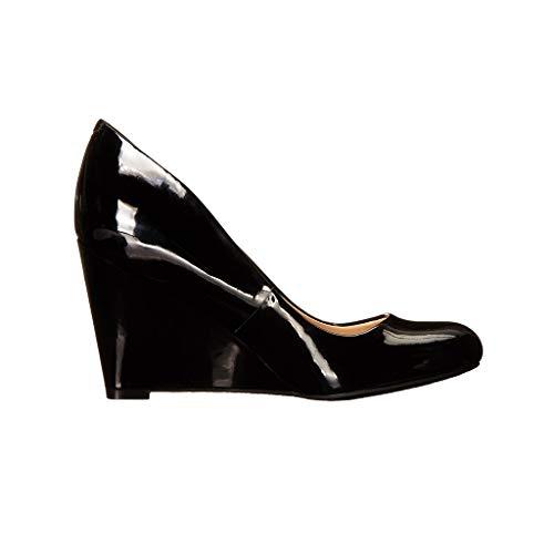 Fermé Chaussures Femmes Day Ronde Élégant Habillées Simples Chaussures Tête Confortable Talon Compensé Chaussures Long Bout A Portant Des qwqIrtS