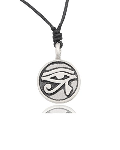 Horus Eye - Eye of Ra Horus Egyptian Silver Pewter Charm Necklace Pendant Jewelry by Vietguild