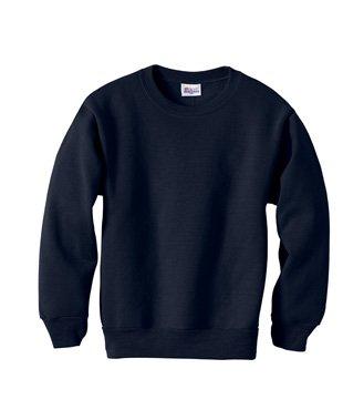 Hanes ComfortBlend Youth Crewneck Sweatshirt 7.8 oz, M-Deep Navy (Sweatshirt Comfortblend Youth Crewneck)