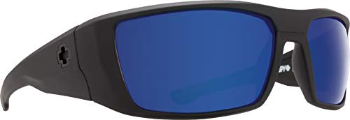 Spy Optic Men's Dirk Matte Black Polarized Wrap, 64 ()