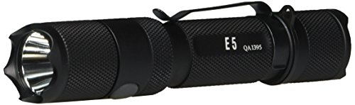 PowerTac E5 LED Flashlight with CREE XM-L LED 950 Lumens-Uses 2 by CR123A or 1 by 18650