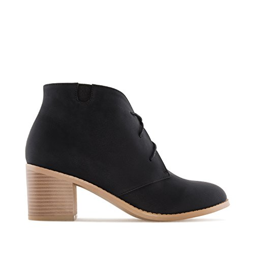 Andres Machado Am4091.leren Laarsjes In Faux Leather.womens Petite & Large Szs: Us 2 To 5 -us 11.5 To 13 / Eu 32 To 35 -eu 43 To 45 Black Faux Leather