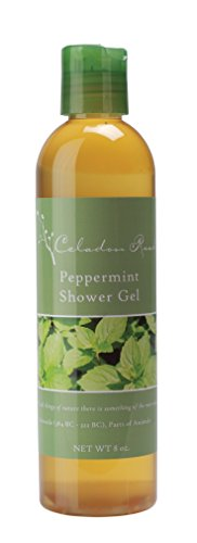 Celadon Road Peppermint Shower Gel - Organic Ingredients and Essential Oils - Sulfate and Paraben Free - Best All Natural Shower Gel - 8 oz - Made in USA