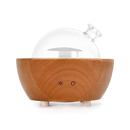 Latest Smart Light Therapy Glasses YXJC Essential Oil Diffusers, 200ml Ultrasound Aromatherapy Diffusers, Solid Wood Glass Humidifiers for Bedroom Meditation 2019
