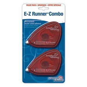 3L Scrapbook Adhesives E-Z Runner Permanent Adhesive Dispenser, 28 Feet, 2-Pack -