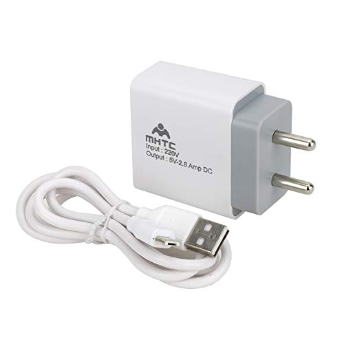 mhtc 201 2.8 amp 18w fast mobile charger  White