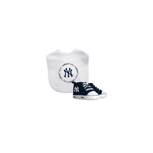 (Baby Fanatic MLB New York Yankees Unisex NYY30002Bib & Prewalker Gift Set - New York Yankees, See Description, See Description)