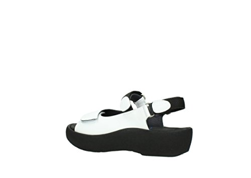 Wolky Womens White 3204 Leather Leather Sandals Jewel 30100 rrv8qxdY