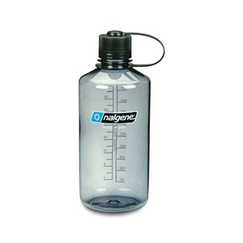 Nalgene Narrow Mouth 1 qt Everyday Water Bottle (Gray w/Black Lid) - 3 Pack