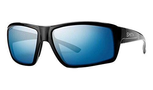 Smith Optics Challis Sunglasses, Black Frame, Polar Blue Mirror Techlite Glass (Techlite Glass Lens)