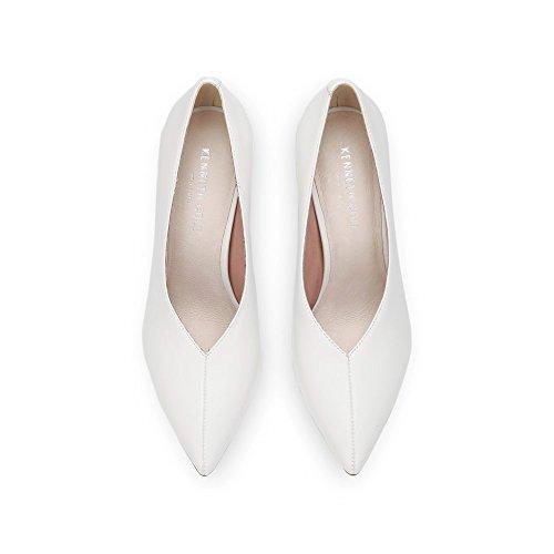 Kenneth Cole New York Femme Mariana Orteil Pointu Pompe Stiletto Blanc