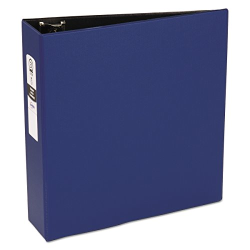 Avery 03601 Economy Non-View Binder with Round Rings, 11 x 8 1/2, 3' Capacity, Blue