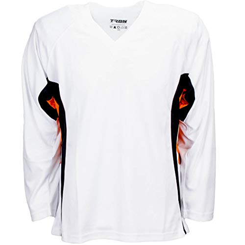 TronX DJ200 Team Hockey Practice Jersey (White/Orange X-Large)