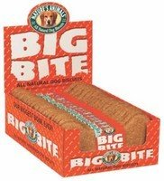 Nature's Animals Inc. DNT00246 24-Piece Big Bite Bone Dog Biscuits Display, Crunchy Peanut Butter, 8-Inch