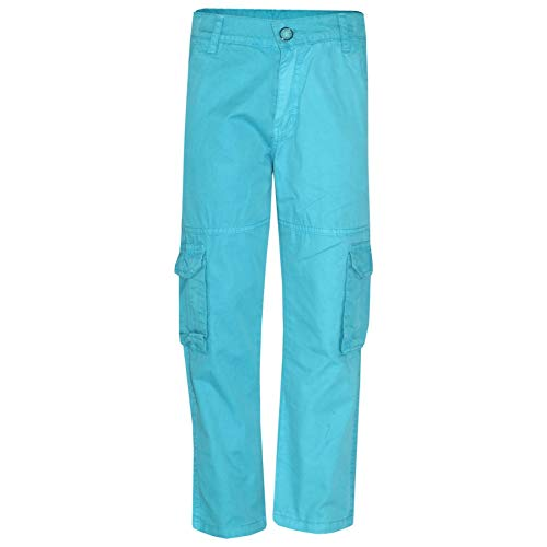 - Kids Boys Youth BDU Ranger 6-Pocket Aqua Combat Cargo Trousers Fashion Pant 5-13