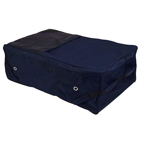 Rolling Hay Bale Bag - Tough-1 Deluxe Rolling Hay Bale Carrier Navy