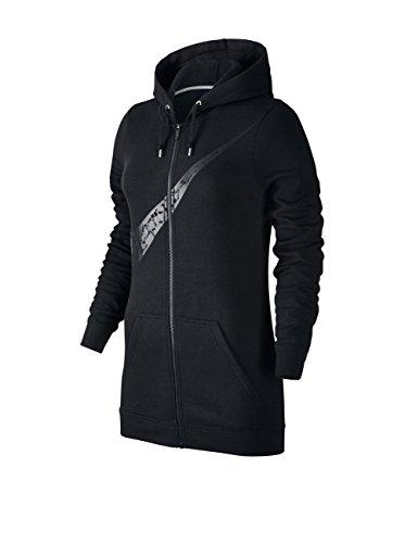 Nike Sportswear Women's Full Zip Fleece Hoodie (Medium) (Black)