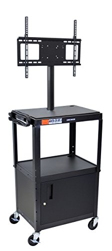 Luxor Lcd (LUXOR AVJ42C-LCD Cart with Cabinet and LCD Mount, Adjustable Height, 42