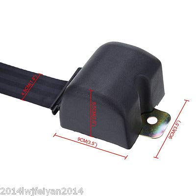 FidgetGear Universal 3 Point Retractable Car Seat Belt Bolt Extension Safety Strap Buckle