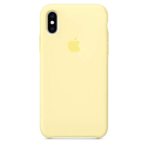 Liquid Silicone Case Compatible with iPhone Xs Max 6.5 inch (2018), Gel Rubber Protection Shockproof Cover Case Drop Protection Case (Yellow)