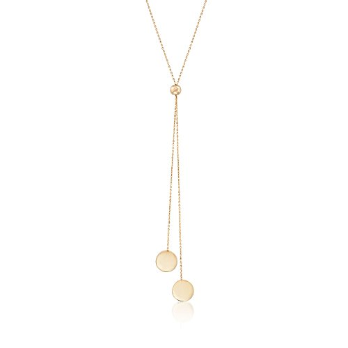 Ross-Simons 14kt Yellow Gold Lariat Disc Necklace ()