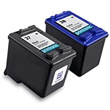 2 Pack Compatible HP 27 Black Ink Cartridge and HP 28 Color Ink Cartridge